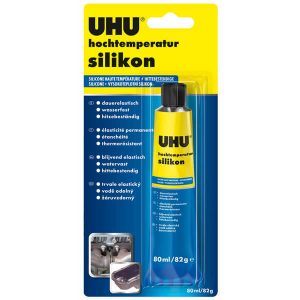 Uhu 46735 - De silicona de alta temperatura, 80 ml, negro