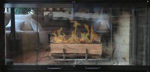 "Chimenea de 36 ""Puerta de cristal Set para adaptarse a heatilator unidad"