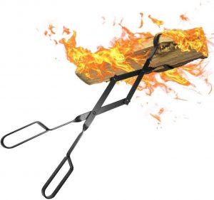 Amagabeli 66cm Tenazas lumbre Pinzas para Chimenea Horno de Leña para Hoguera Grill Camping Herramienta Accesorios De Chimenea Pinzas pinzas para chimenea horno de leña para hoguera de herramienta